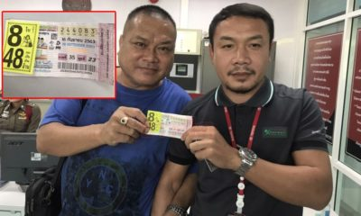 Lottery winner had 8 winning tickets, a total windfall of 48 million baht | The Thaiger