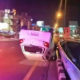 Woman and 2 children escape unharmed after car flips over in Pattaya | Thaiger