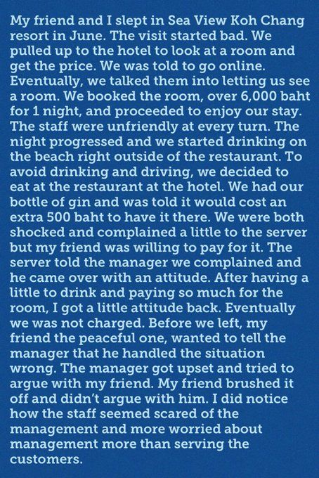 News of American sued over bad Koh Chang hotel review has everyone talking | News by Thaiger