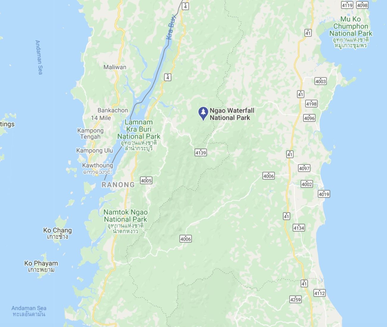 Foreign tourist dies after falling from cliff at Ranong waterfall | News by Thaiger
