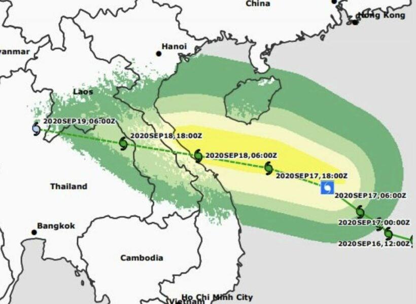 & # 8216; Noel & # 8217; wordt sterker terwijl het de centrale kustlijn van Vietnam binnendringt & # 8211; VIDEO | De Thaiger