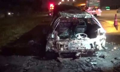 Car bursts into flames as the new owner drives home after buying it | Thaiger