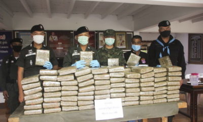 Border police find 160 kilograms of marijuana hidden in fertiliser sacks | The Thaiger