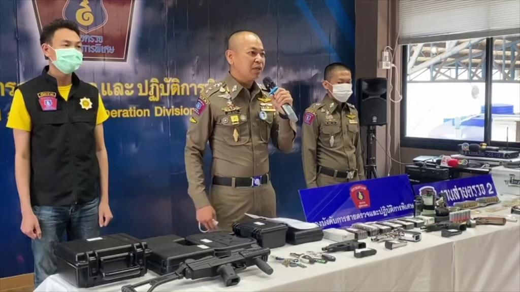 2 foreigners arrested for allegedly selling illegal guns, grenades | Thaiger