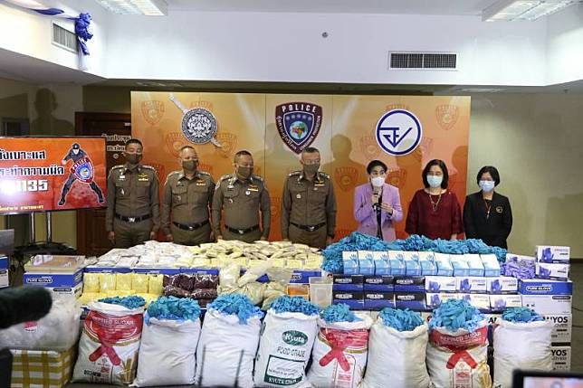 Police bust factories: Used medical gloves resold and painkillers sold as herbal medicine | Thaiger
