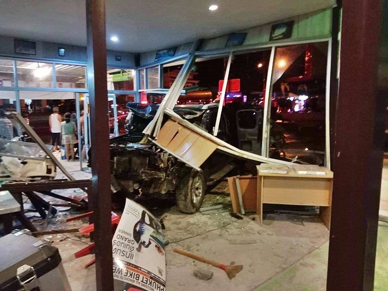 9 year old killed after truck hydroplaned into Phuket restaurant and shop | Thaiger