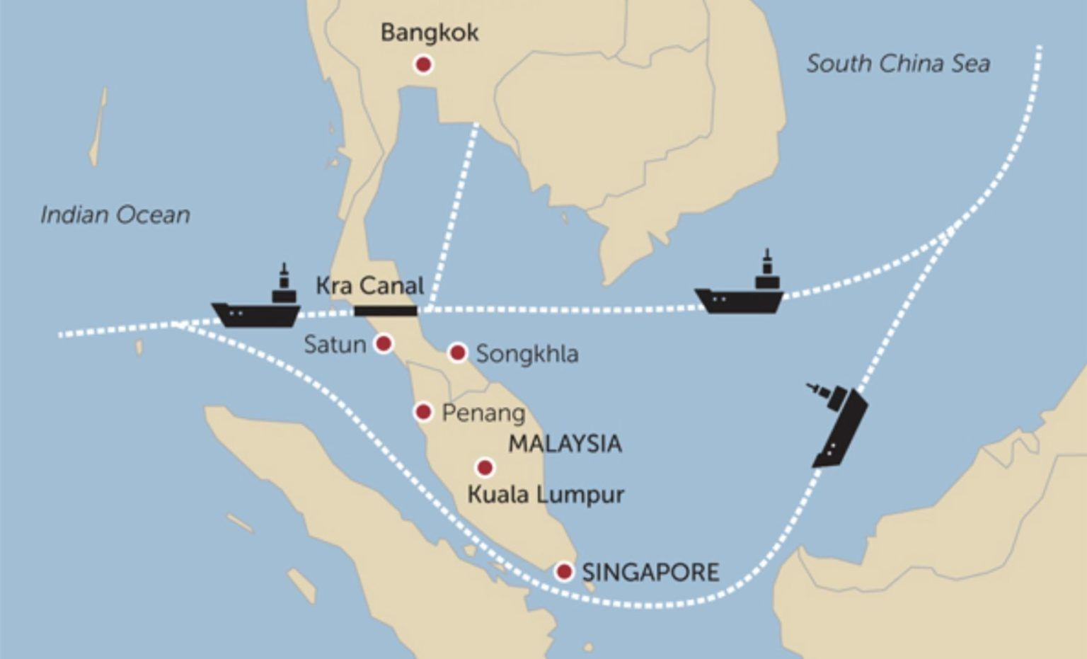 Ships want a shortcut: Studies to start on Thai canal and land bridge | News by Thaiger