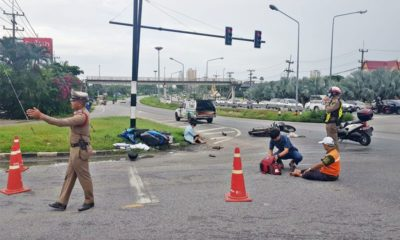 Win driver allegedly ran red light, hits teenage motorbiker | The Thaiger
