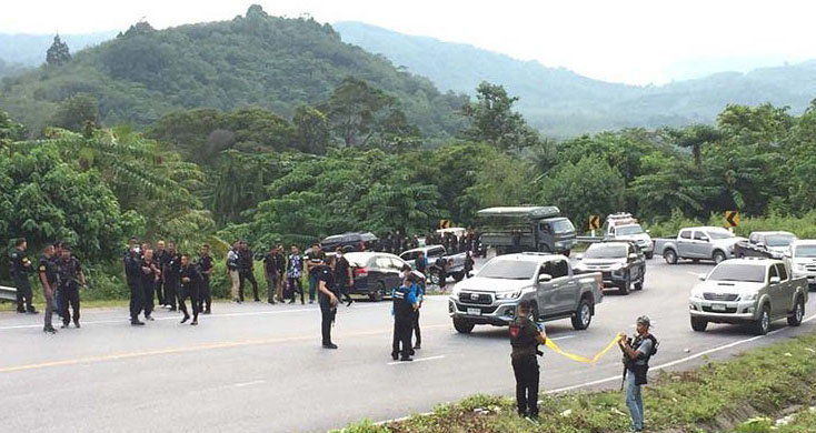 Southern Thailand insurgents ambush police vehicle | Thaiger