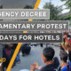 Thailand News Today | Emergency Decree, Parliamentary protest, Dark days for hotels | September 25 | Thaiger