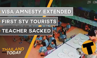 Thailand News Today | Visa amnesty extended, first STV tourists, teacher sacked | September 29 | The Thaiger