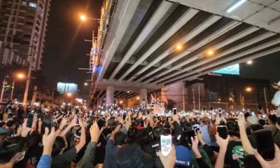 Saturday night protests around Bangkok end peacefully | The Thaiger