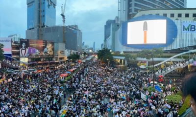 Pathumwan intersection protest kicks off in defiance of police and government orders | Thaiger