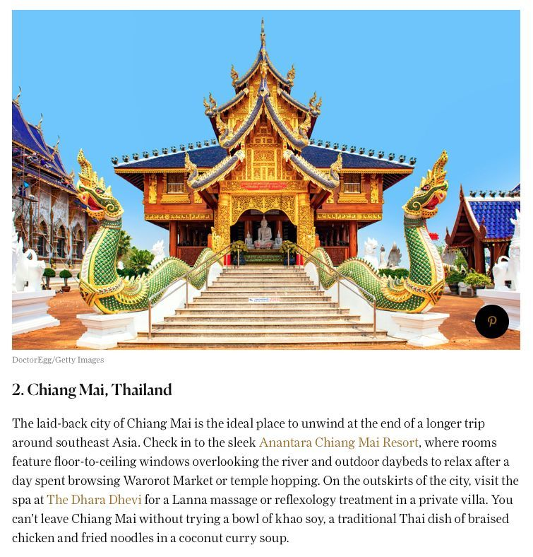 Condé Nast Traveller ranks Thailand in Top 20 Best Countries in the World | News by Thaiger