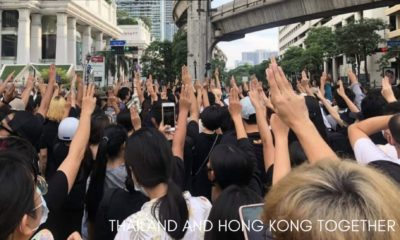 """Hong Kong and Thai protesters form the """"Milk Tea Alliance"""" 