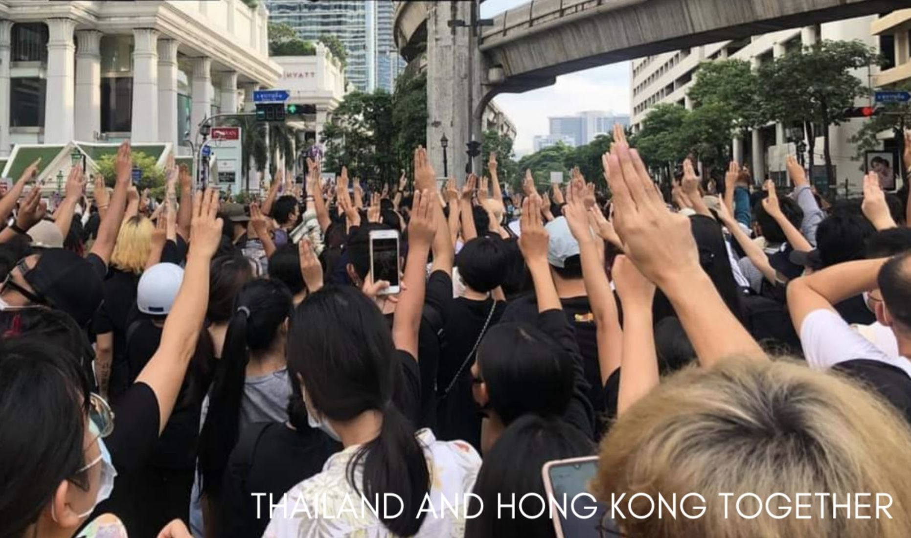 "Hong Kong and Thai protesters form the ""Milk Tea Alliance"" 