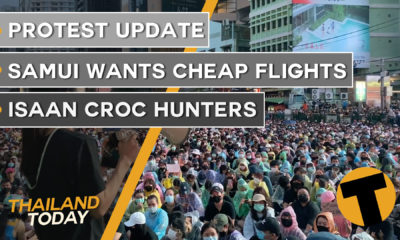 Thailand News Today | Protest update, Samui wants cheap flights, Isaan croc hunters | October 19 | Thaiger