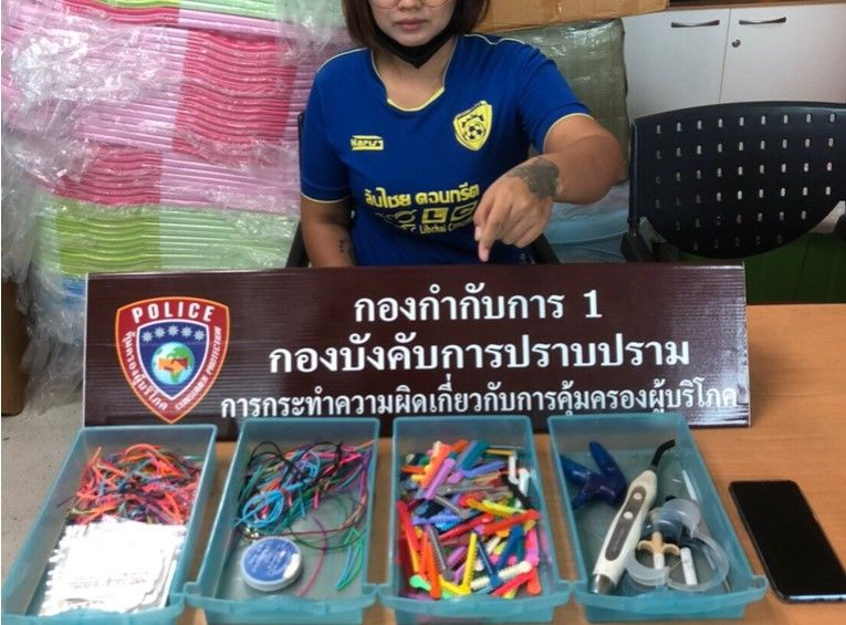 Woman arrested for allegedly running illegal fashion braces business   Thaiger