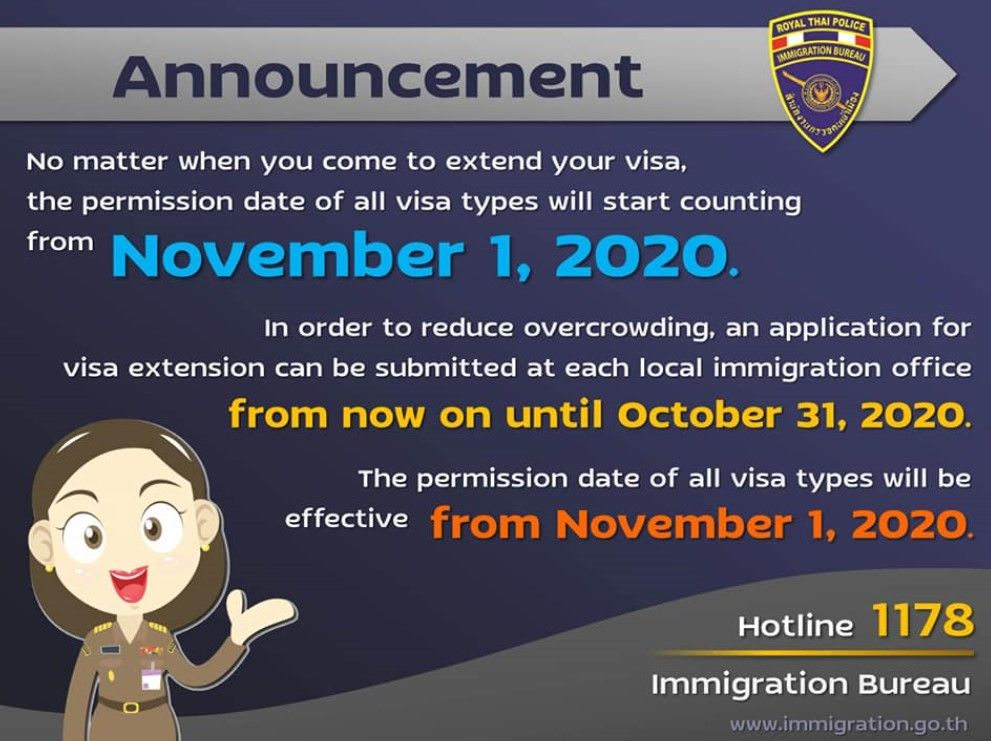 60 day visa extensions, filed during amnesty, go into effect November 1 | News by Thaiger