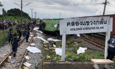 UPDATE: Broken railway crossing signal contributed to fatal bus-train collision east of Bangkok | Thaiger