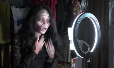 Thai woman dressed as a zombie sells dead people's clothes – VIDEO | The Thaiger