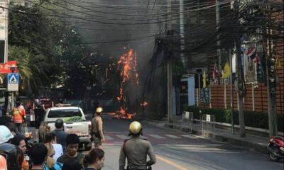 Fire in Bangkok's Sukhumvit Soi 31, under control | Thaiger