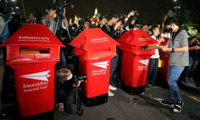 Police checking contents of protest letter boxes to decide if charges will be filed   Thaiger