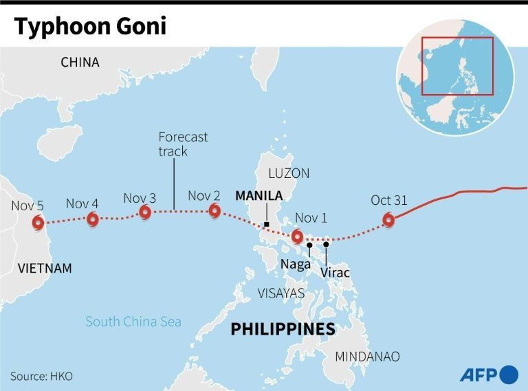 Typhoon Goni kills 22, many others missing, now heads towards Vietnam   News by Thaiger