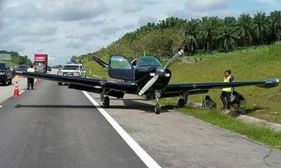Technical issues force Singapore aircraft to land on Malaysian highway – VIDEO | The Thaiger