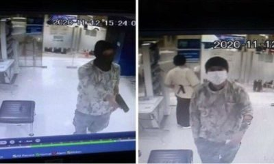 Bank robber arrested after CCTV captures him counting money metres from the scene | The Thaiger