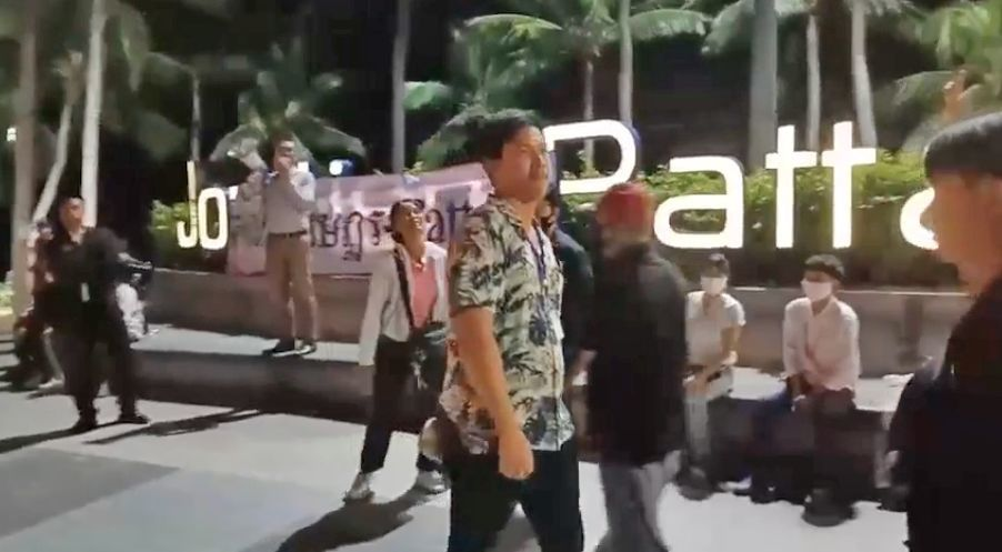 Thai protester released on bail, tells his side of the story after head-butt incident in Pattaya   News by Thaiger