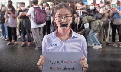 Protester slammed for dressing as schoolgirl to highlight sexual harassment in Thai schools | Thaiger