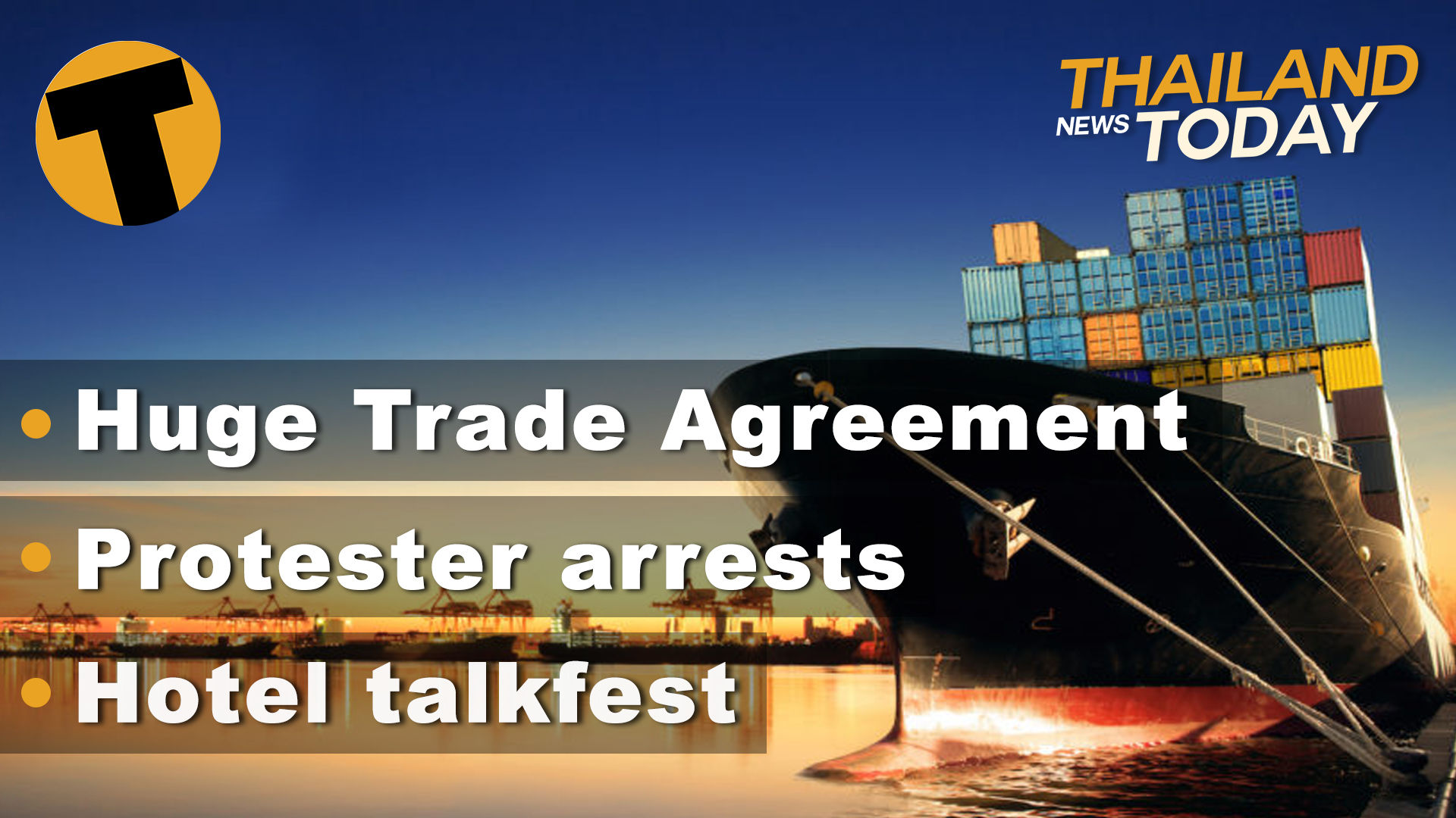 Thailand News Today   The RCEP reset, Hotel Talkfest, Protesters to be arrested   November 16   The Thaiger