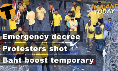 Thailand News Today | Emergency Decree, Protesters shot, Baht boost temporary | Nov 18 | Thaiger