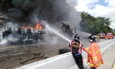 Fuel tanker driver killed in crash, truck engulfed in flames   Thaiger