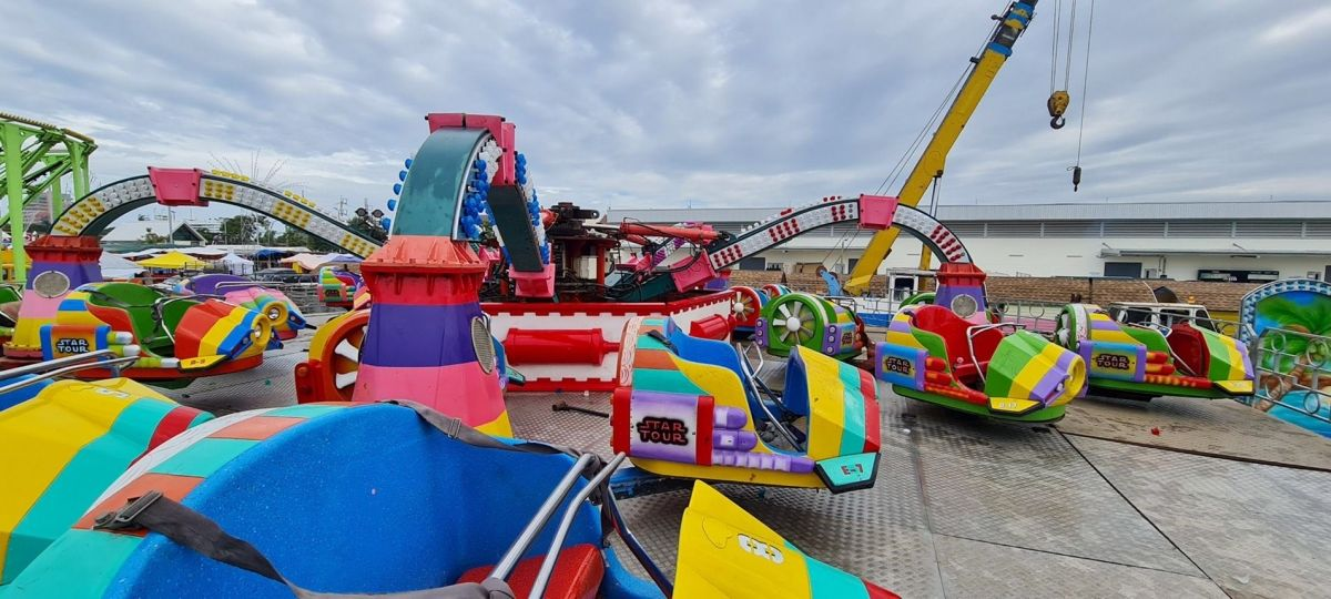 Children injured on Hua Hin carnival ride, no safety certification submitted
