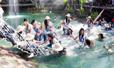 Shaken but not stirred – Miss Thailand contestants get an unplanned swim | VIDEO | The Thaiger