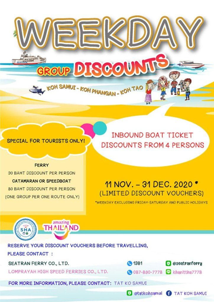 Ferry operators offer discounted trips to Koh Samui, Koh Pha Ngan and Koh Tao   News by Thaiger