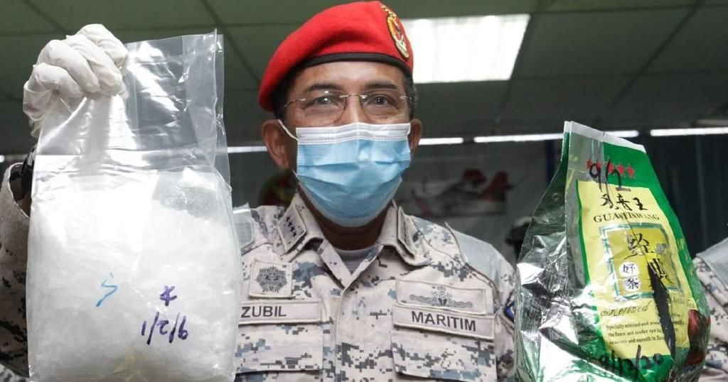 Malaysia coast guard busts record methamphetamine shipment, possibly smuggled from Golden Triangle | Thaiger
