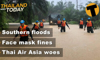 Thailand News Today | Southern floods, Face mask fines, Thai Air Asia woes | January 8 | The Thaiger