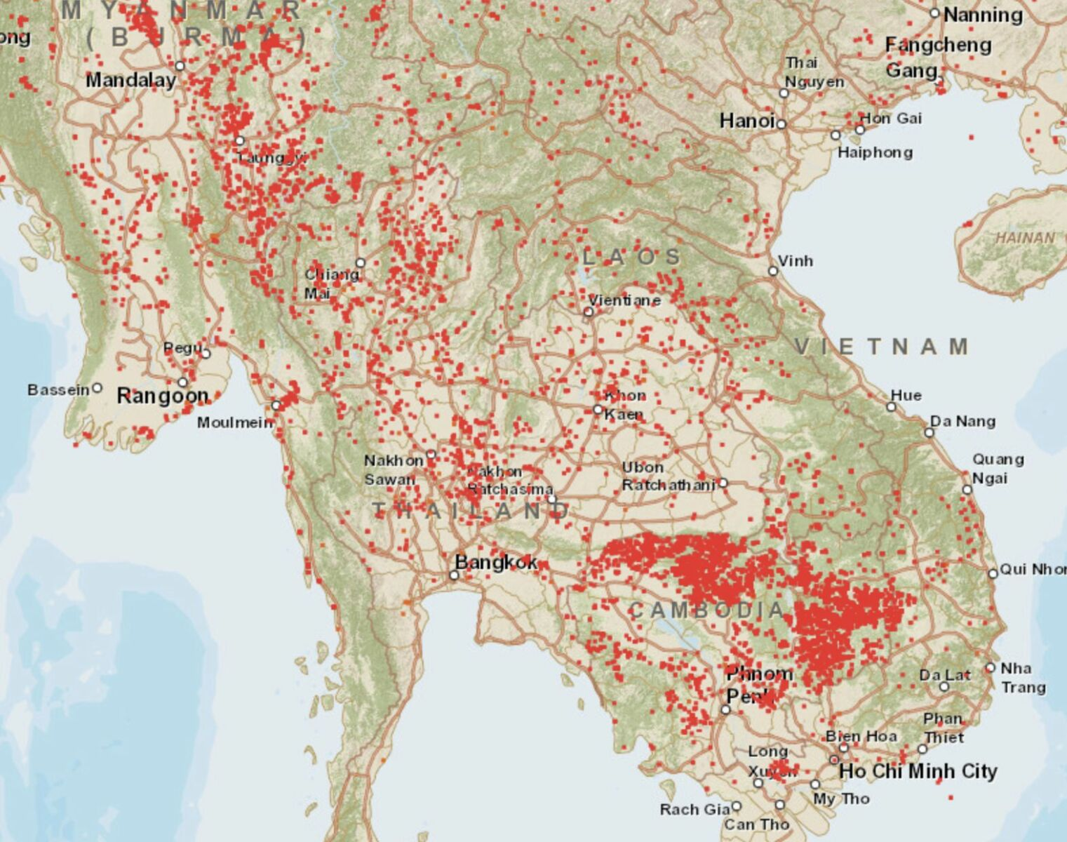 """Air pollution reaches """"unhealthy"""" levels in Thailand's north and northeast   News by Thaiger"""