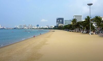 Pattaya Beach, fly over the pristine but horrifyingly empty beaches | VIDEO | The Thaiger