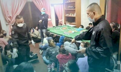 40 arrested in a suspected gambling house in Nonthaburi   Thaiger