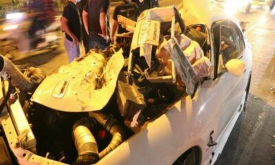 Man killed and 2 injured after sports car collides with van in Bangkok | Thaiger