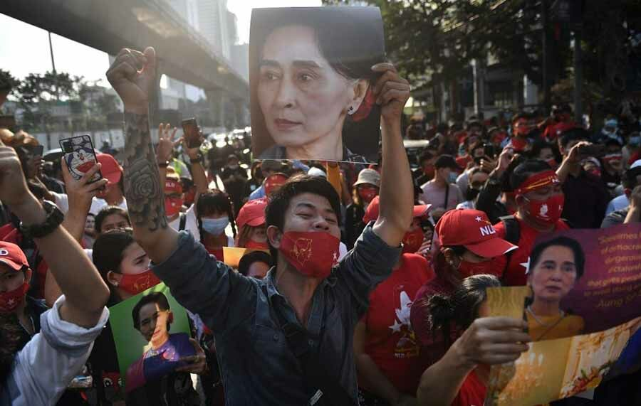 Court rejects police request to further detain 2 activists from Burmese embassy protest   The Thaiger
