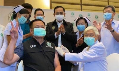 Public Health Minister gets first Covid-19 vaccine shot in Thailand | The Thaiger