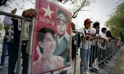 Burmese nationals rally outside UN office in Bangkok to protest against Myanmar coup | The Thaiger