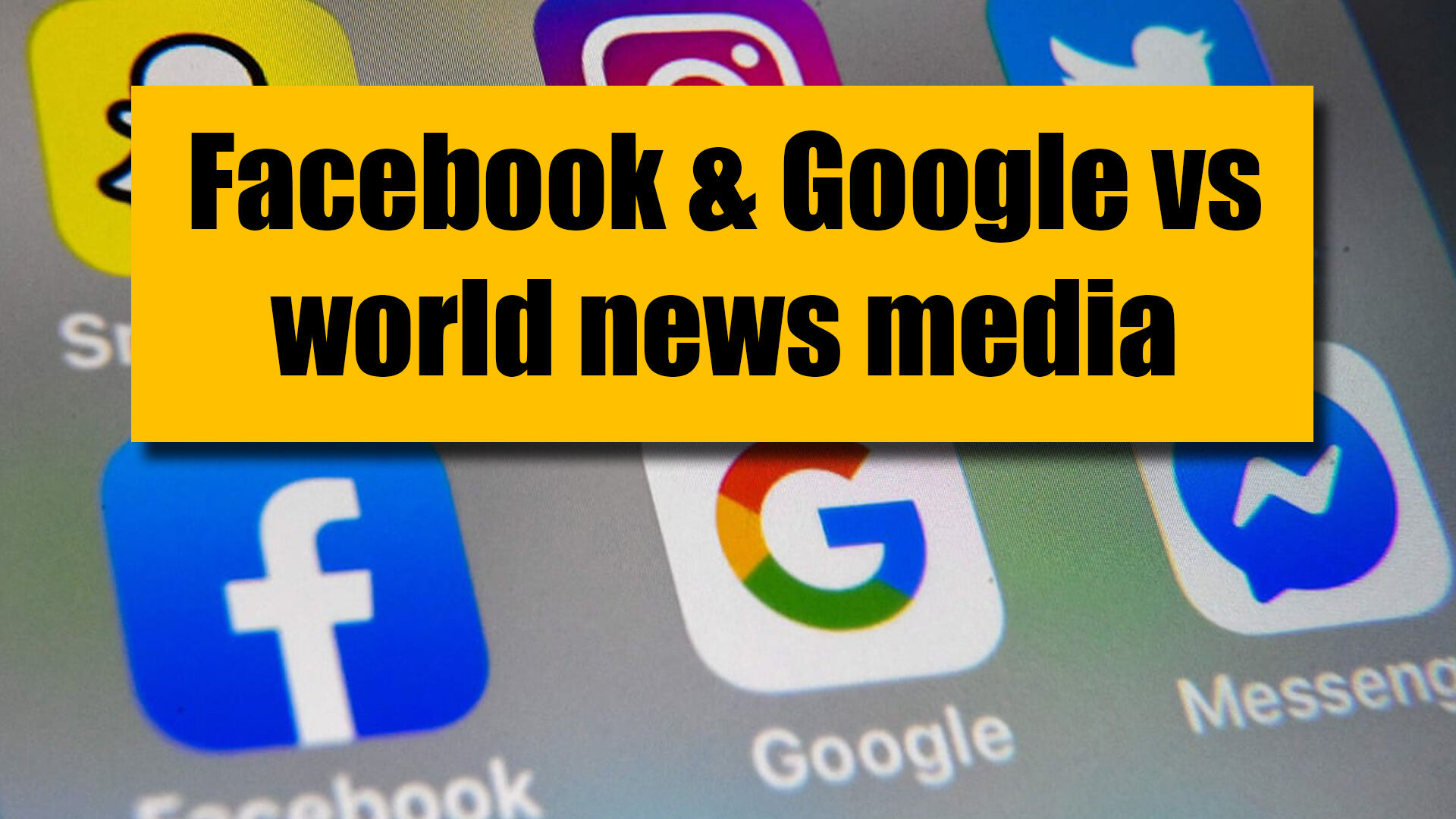 The social media giants in battle with 'old' media and world governments | VIDEO | The Thaiger