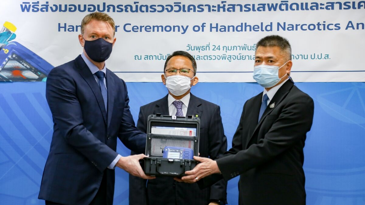 "Thailand law enforcement gets new ""laser"" narcotics analysers 