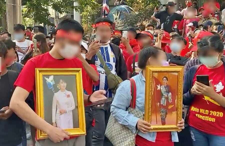 3 arrests in Bangkok as activists gather at Burmese Embassy to protest military coup   The Thaiger